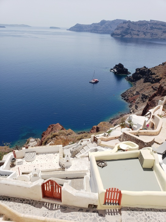 Views from one of Santorini's Winding Paths
